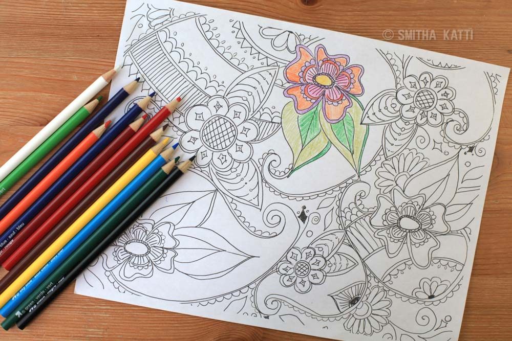free paisley adult coloring pages - photo#35