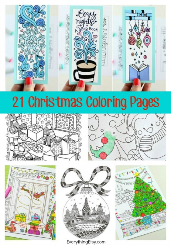 christmas crafts coloring pages - photo#47