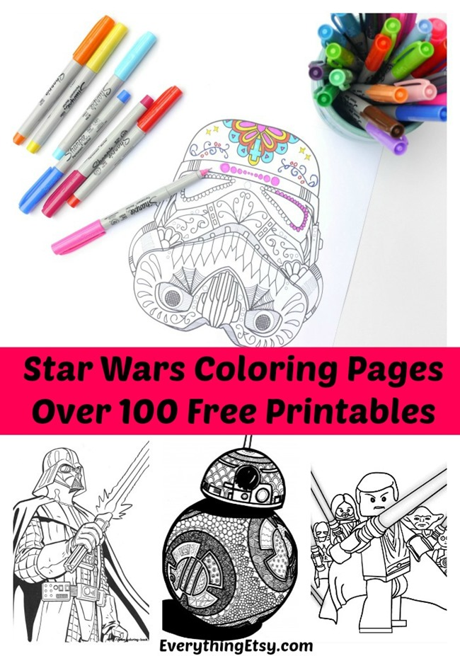 image relating to Star Wars Printable Crafts titled 100+ Star Wars No cost Printable Coloring Internet pages for each Grown ups