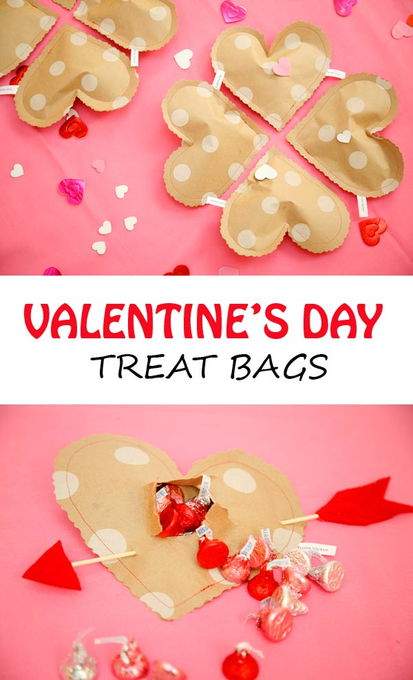 make these simple diy valentines day treat bags from wrapping paper using this tutorial by stef at non toy gifts stef includes a free printable heart - Valentine Treat Bag Ideas