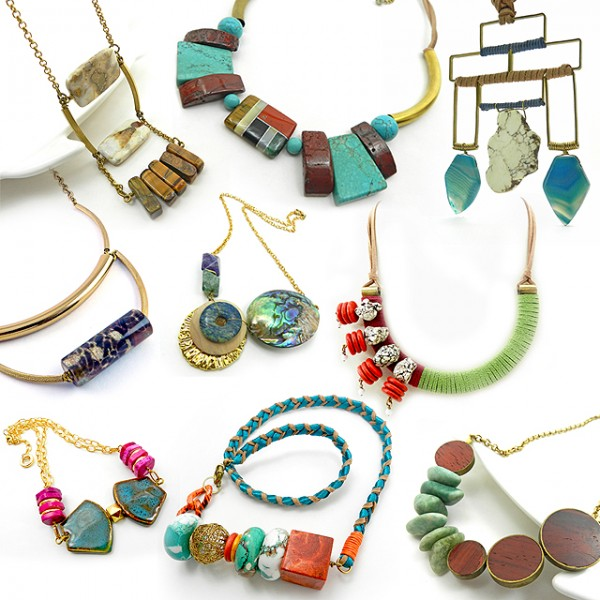 gemstone statement necklaces