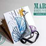 DIY Embroidered Bird Journal