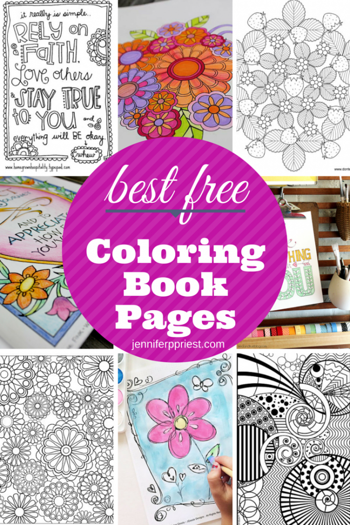 The Best Free Coloring Book Pages Indie Crafts