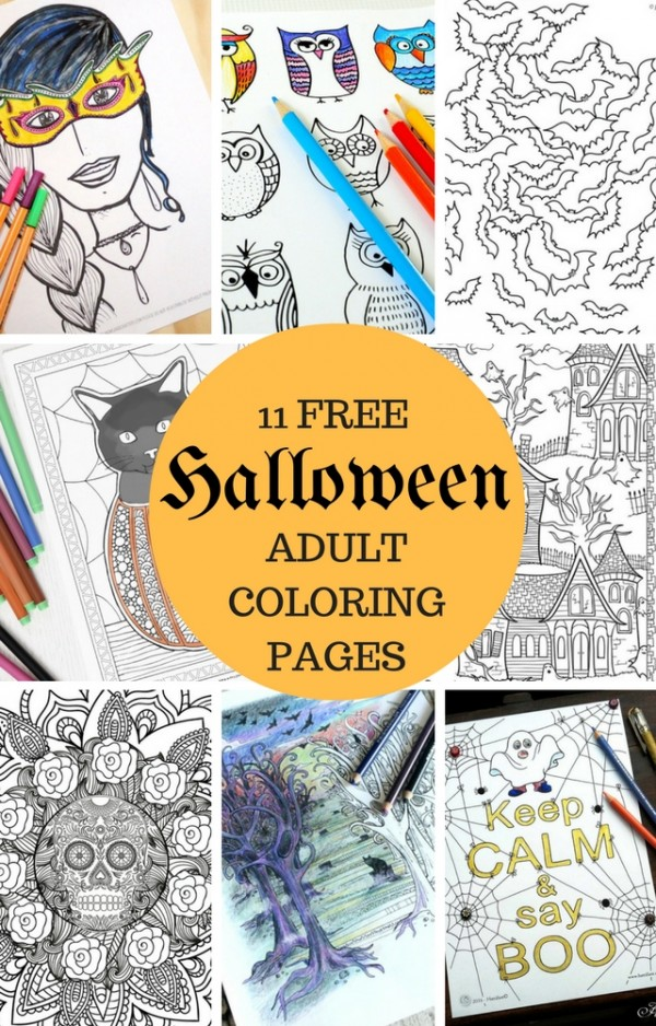 Adult Coloring Pages Halloween - Coloring Home | 938x600