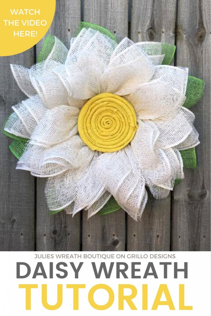 Make A Burlap Daisy Wreath With This Diy Indie Crafts
