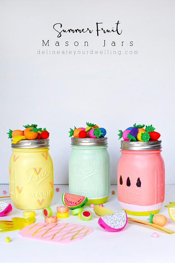 Diy Summer Fruit Mason Jars Indie Crafts