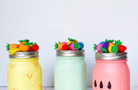 DIY Summer Fruit Mason Jars