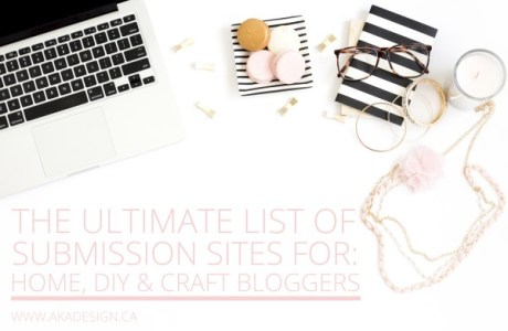 Submission Websites for DIY and Craft Bloggers