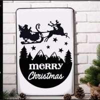Free SVG File - Christmas Santa Sleigh
