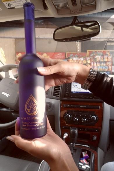 Arak, or araq (Arabic: عرق), is a Levantine alcoholic spirit (~40–63% Alc. Vol./~80–126 proof) from the anis drinks family. (WIKI)