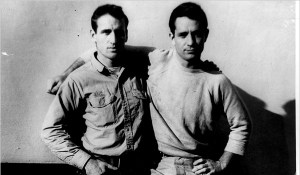 Neal Cassady and Jack Kerouac. Photo by Carolyn Cassady.