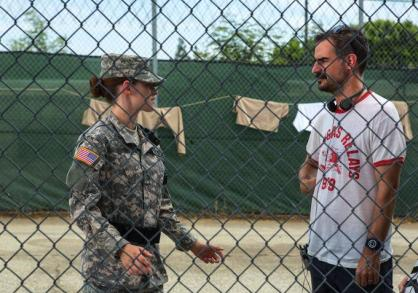 Stewart and Sattler and the Camp x-ray set
