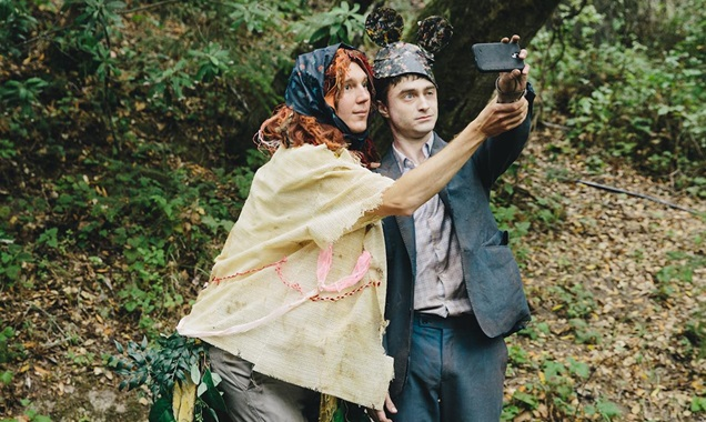 Paul Dano and Daniel Radcliff selfie in Swiss Army Man
