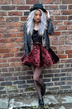Inspiration: Crushed Velvet Skirt