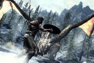 Skyrim-screenshots-dragon hunting