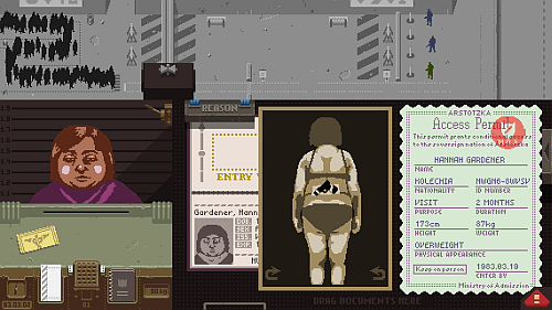 Papers, Please screenshot -Contraband
