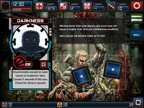 Chainsaw Warrior for iOS roll of the dice screenshot
