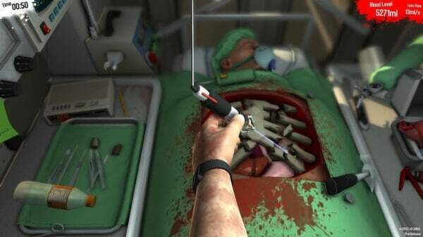 Surgeon Simulator 2013 - surgery screenshot