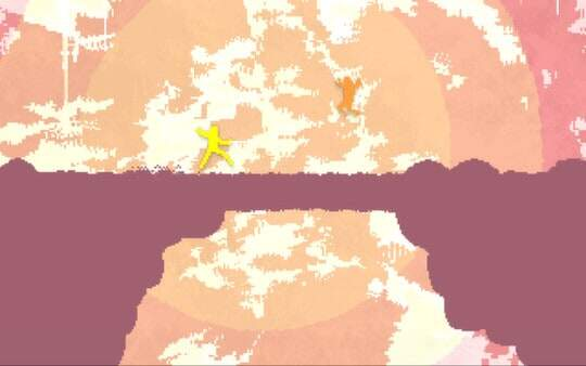 nidhogg screenshot - brightly colored background