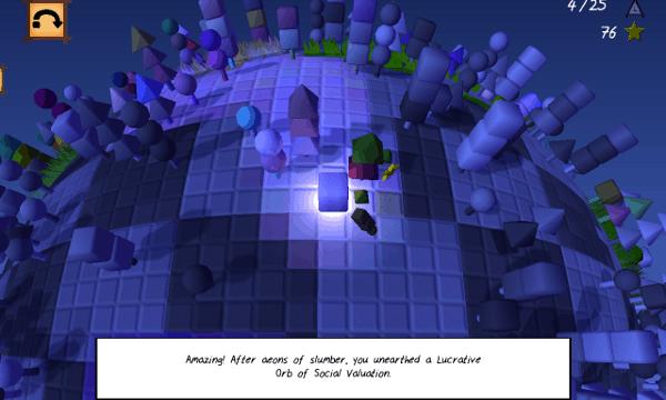 Cube & Star screenshot - blue