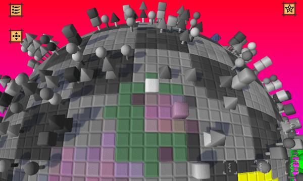 Cube & Star screenshot - grey