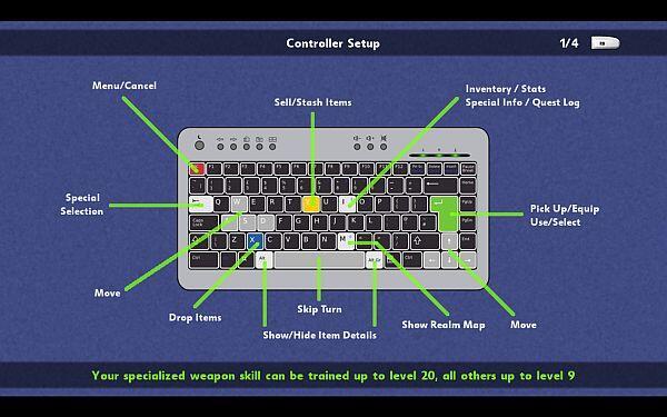 Battlepaths keyboard controls