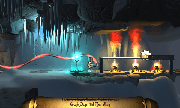 Life Goes On screenshot - fire geysers