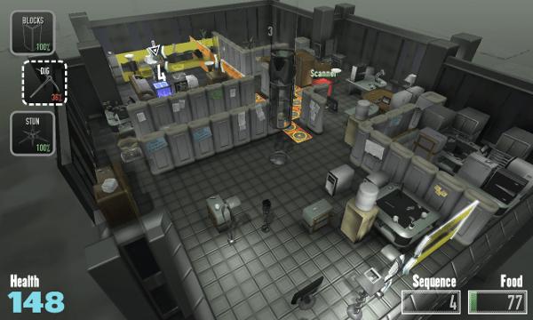Not The Robots screenshot - grey room