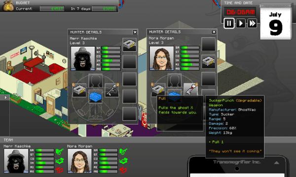 GhostControl screenshot - characters