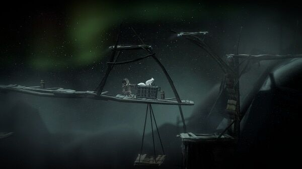 Never Alone, crate-pulling puzzle