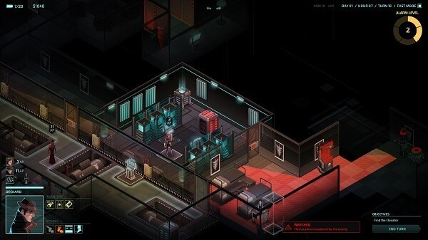 Invisible, Inc.: screenshot courtesy of Steam