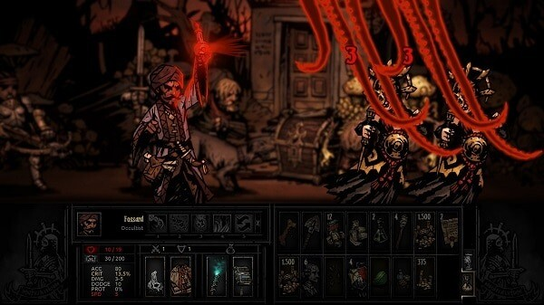 Darkest Dungeon: lashed by tentacles