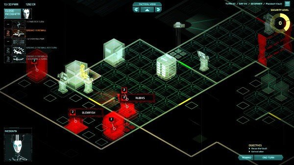 Invisible, Inc.: hacking view