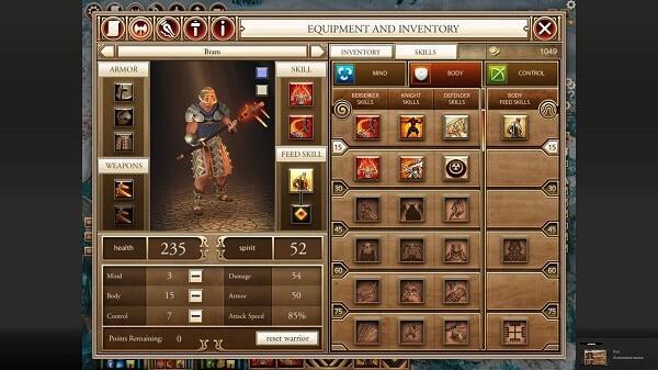 Kyn, character customization screen