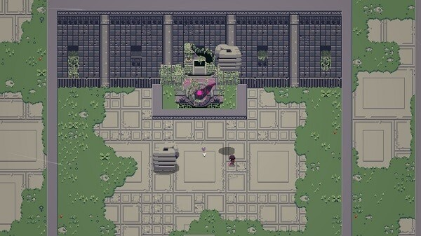 Titan Souls, a boss with crushing stone hands