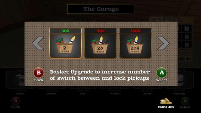 Coffin Dodgers game screenshot - garage