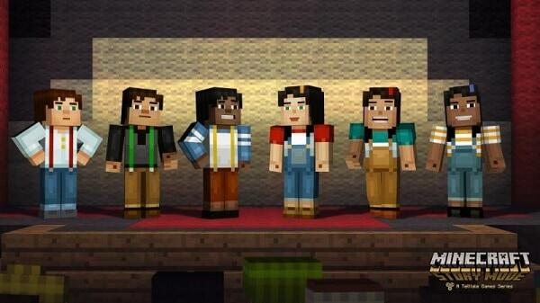 Minecraft: Story Mode, some characters