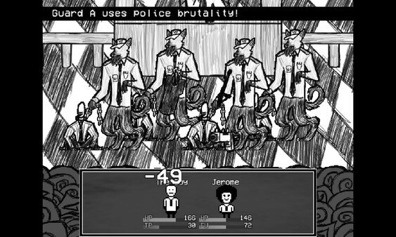 Suits game screenshot, combat scene