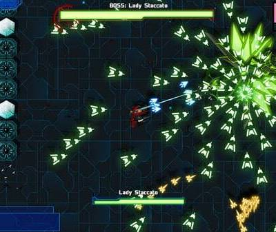 Starward Rogue game screenshot, bullet pattern (courtesy Steam)