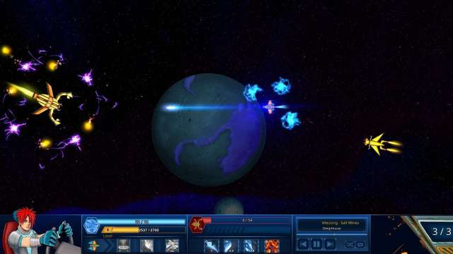 Survive in Space game screenshot, shooting