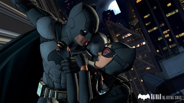 Batman game screenshot, Bruce and Selina