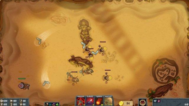 Flamebreak game screenshot, desert