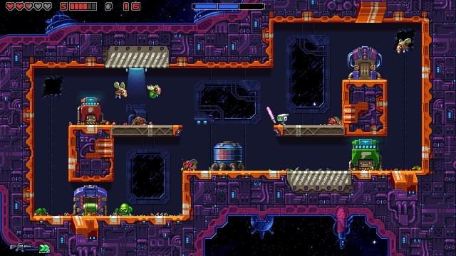 """Super Mutant Alien Assault game screenshot, """"light saber"""""""