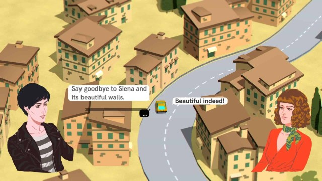 Wheels of Aurelia game screenshot, Siena