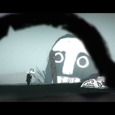 The Mooseman game screenshot, giant face