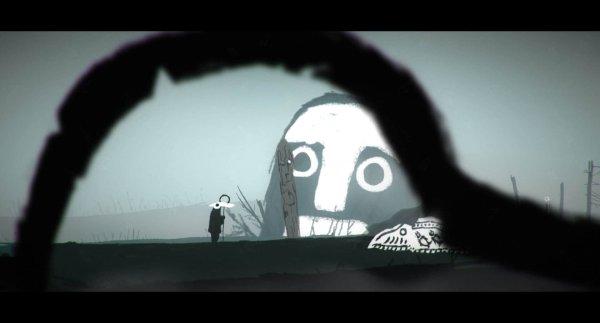 The Mooseman game screenshot, giant face