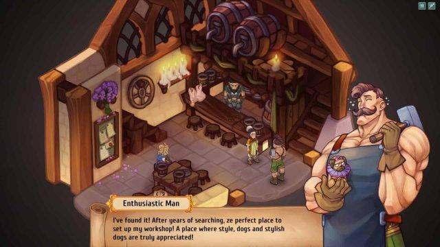Regalia game screenshot, blacksmith