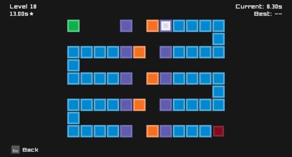Tiles game screenshot, disappearing tiles
