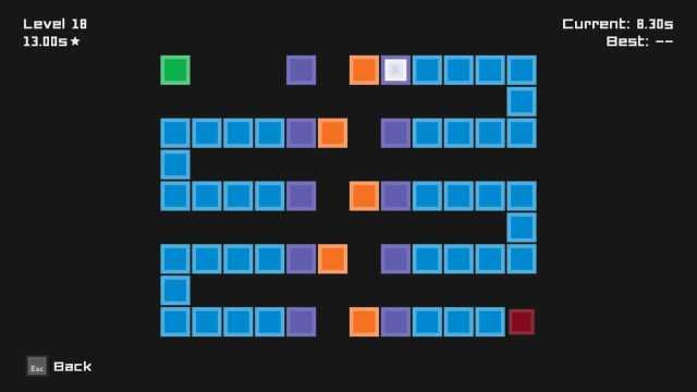 Tiles game screenshot, disappearing tiles