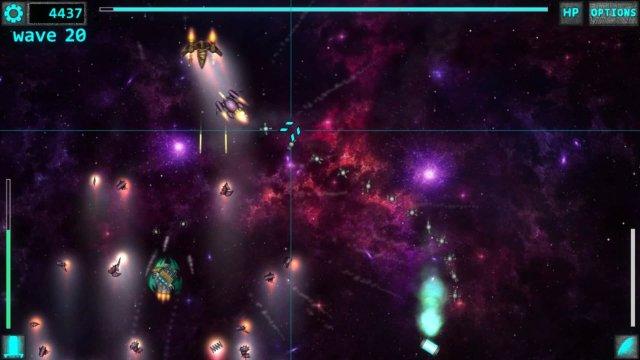 Space Ripper game screenshot, field of debris